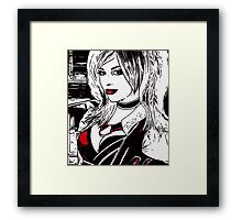 Hot Girl in Red Corset 3 Framed Print