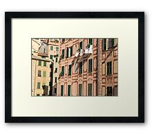 The lines and shadows of the Italian Riviera Framed Print