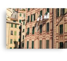 The lines and shadows of the Italian Riviera Canvas Print