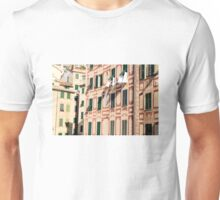 The lines and shadows of the Italian Riviera Unisex T-Shirt