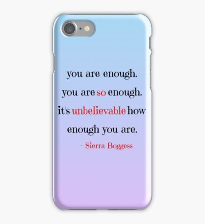 Sierra Boggess quote iPhone Case/Skin