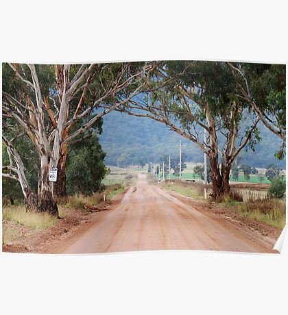 The Road to Glen Davis NSW Australia Poster