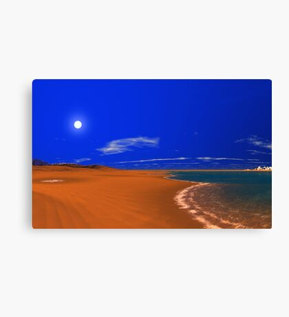 Dunes World - Hot n' Cold Canvas Print