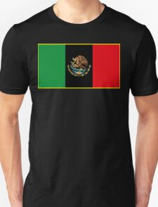 Afro Mexican Flag Unisex T-Shirt