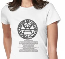 THE SECRET SEAL OF SOLOMON. with text description Womens Fitted T-Shirt