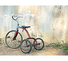 Old Child's Tricycle... Photographic Print
