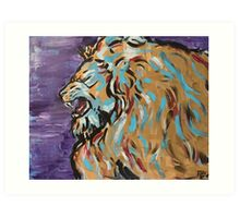 Roaring Golden Lion Art Print