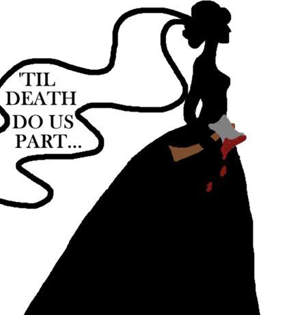 Black Widow Bride - Until Death Do Us Part Sticker