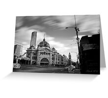 Flinders Street contrast Greeting Card