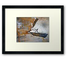 First cut is the deepest... Framed Print