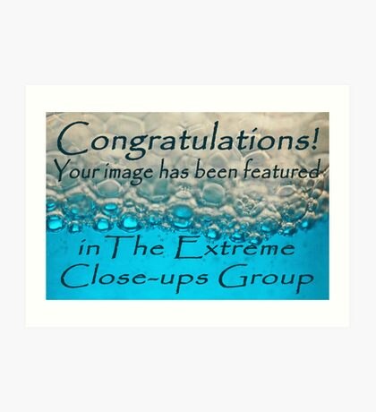 entry for extreme close-up banner challenge Art Print