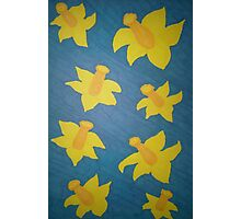Pop Art Daffodils Photographic Print