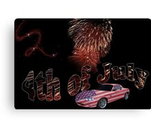 4th of July celebration Canvas Print