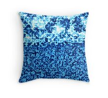 Glacier Bright Brilliant Blue Crushed Winter Abstract Blocks of Ice Cubes  Throw Pillow