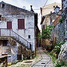 Walking in Gavigano Italy by Warren. A. Williams