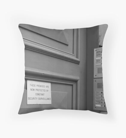 Of condos, rising crime rates and limited land.. Throw Pillow