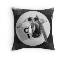 Crisis times: when mice were hard & disks chewy Throw Pillow