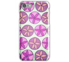 Pink and Purple Flower Pattern iPhone Case/Skin