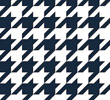 Navy Large Houndstooth by ImageNugget