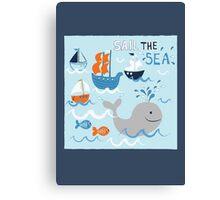 Sail the Sea Canvas Print