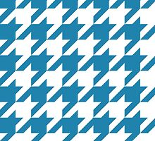 Blue Large Houndstooth by ImageNugget