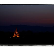 Stupa in the Gloaming, Bagan, Myanmar by Adam Martin