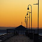 Sunrise over Shorncliffe Jetty - Brisbane by John Quixley