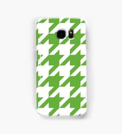 GrassGreen Large Houndstooth Samsung Galaxy Case/Skin