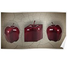 3 Apples Poster