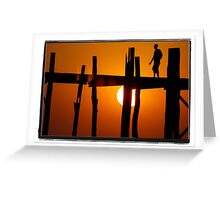 Silhouette Monk Greeting Card