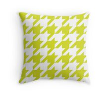 Chartreuse Large Houndstooth Throw Pillow
