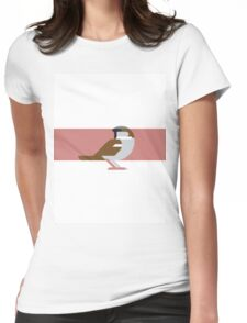 Sparrow geometrical vector illustration Womens Fitted T-Shirt