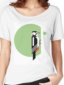 Spotted Woodpecker vector illustration Women's Relaxed Fit T-Shirt