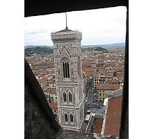 Glimpse of a Decorative Bell Tower Photographic Print