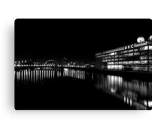 BBC Scotland and the Clyde at Night Canvas Print