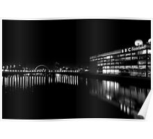 BBC Scotland and the Clyde at Night Poster