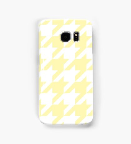 Cream Large Houndstooth Samsung Galaxy Case/Skin