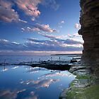 Bogey Hole Reflection, Newcastle by Ross Wood