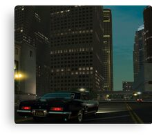 Downtown in the Midnight Canvas Print