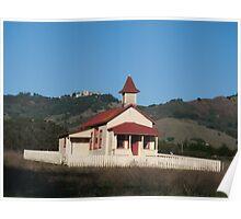 Hearst Castle Overlooking San Simeon Schoolhouse Poster