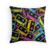 Colorful Retro Music Cassette Throw Pillow