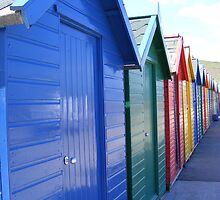 Beach huts by kaotic-shell