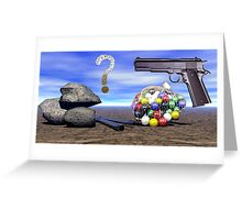 Rock Scissors Paper? Greeting Card