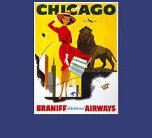 Chicago Vintage Travel Poster Restored T-Shirt