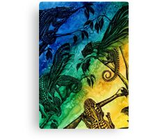 Dragonfly Chameleons Canvas Print