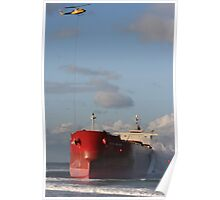 Stranded Ship With Heli Poster
