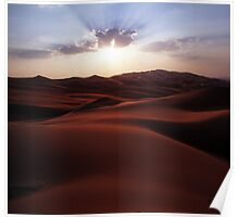 Sunset at the Liwa Oasis Poster