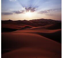 Sunset at the Liwa Oasis Photographic Print