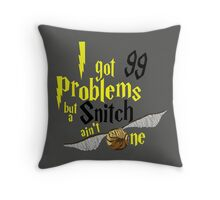 Badger Problems Throw Pillow