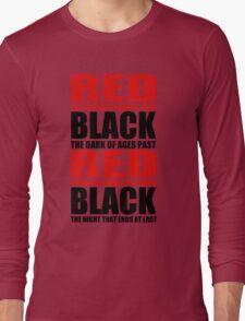 Red & Black Long Sleeve T-Shirt